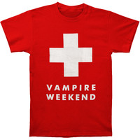 Vampire Weekend Men's  Ski Patrol T-shirt Red Rockabilia