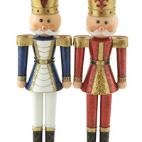 Impressively Styled Metal Nutcracker 2 Assorted