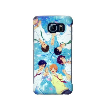 P2127 Free Iwatobi Swim Club Case For Samsung Galaxy S6 Edge