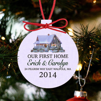 Personalized Our First Home Christmas Ornament - New Home
