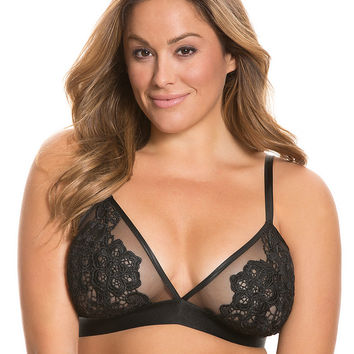 Unlined lace no-wire bra by Cacique | Lane Bryant
