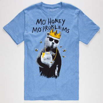 Riot Society Mo Honey Mo Problems Mens T-Shirt Heather Blue  In Sizes