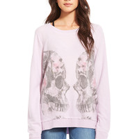 CHASER - REFLECTED FLORAL SKULL-POSY-XS