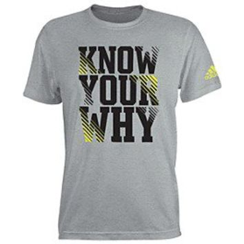 adidas Know Your Why Tee   Shop Adidas