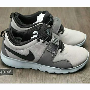 """NIKE"" Trending Fashion casual sports running board shoes Grey I-HAOXIE-ADXJ"
