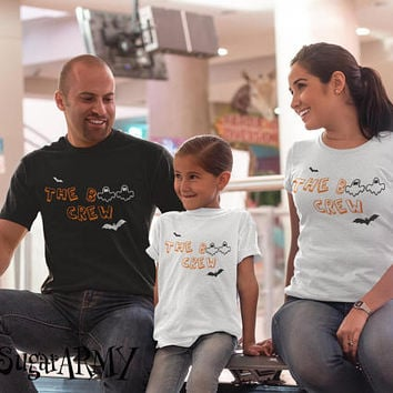 Family Halloween shirt, Halloween family shirt, matching family halloween shirts, the BOOSOME CREW family shirts