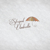 Striped Umbrella / Pre-made Logo Design / Etsy Set, Social Media Profile Set / One Of A Kind Logo Design