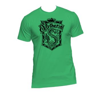 Slytherin Crest Ladies or Mens T Shirt,Harry Potter,Hogwarts,Nerd Girl Tees,Geek Chic