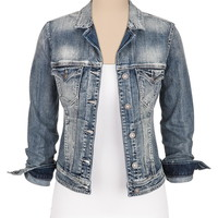 silver jeans co. ® light wash denim jacket