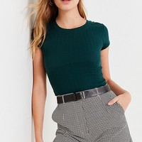 UO Lady High-Rise Houndstooth Short | Urban Outfitters
