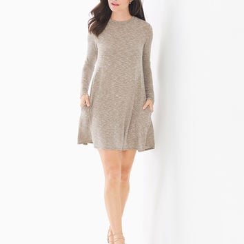 Soma Long Sleeve Tee Shirt Short Dress Olive