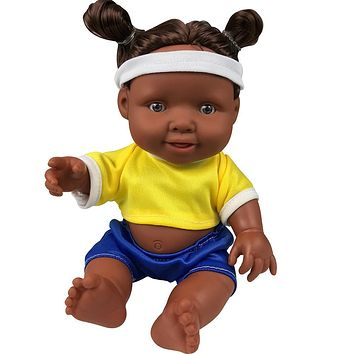 Movable Joint African Doll Toy Black Doll For Kids