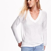 Old Navy Swing V Neck Sweater Knit Top For Women