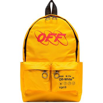 Yellow Industrial School Backpack by OFF-WHITE