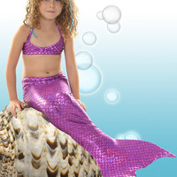 Swimmable Mermaid Tail with Monofin/Add Bikini!