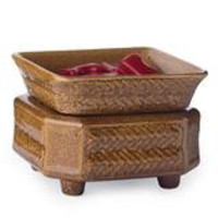 Wicker Candle & Dish Warmer