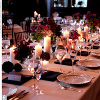 purple wedding reception decor, reception