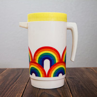 Retro Plastic Rainbow Pitcher