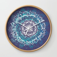 Boheme Mandala Wall Clock by rskinner1122