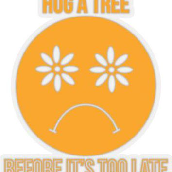 Hug a Tree Sticker