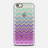 Pastel Ombre Chevron Transparent iPhone 6 case by Organic Saturation | Casetify