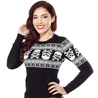 Sourpuss Skull N Bones Sweater