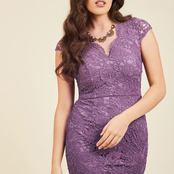 Elegant Moments Lace Dress in Lilac | Mod Retro Vintage Dresses | ModCloth.com