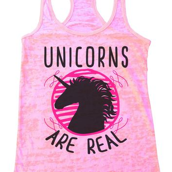 Unicorns Are Real Womens Burnout Tank Top By Funny Threadz