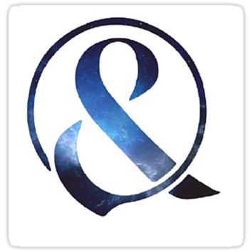 Blue Galaxy Of Mice & Men Ampersand Logo