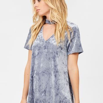 Slate Crushed Velvet Top