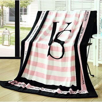"Victoria Secret VS ""Pink"" Print Fashion Household Comfortable Soft Fleece Warm Travel Blanket Sofa Cover Nap Blanket I"