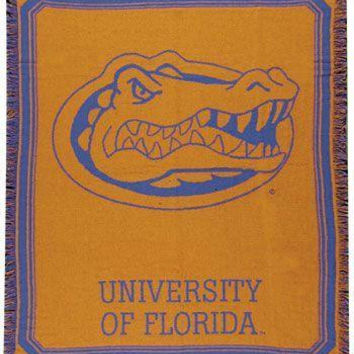 University Of Florida Gators Afghan - Officially Licensed