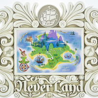 """Disney Parks Peter Pan Neverland 4""""x6"""" Photo Picture Frame New"""