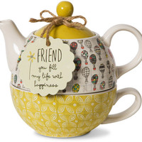 Friend you fill my life with happiness - Teapot & Cup Combo