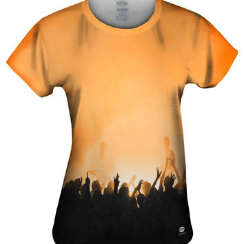 Edm Music Makes The Crowd Orange