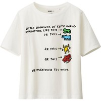 WOMEN SPRZ NY SHORT SLEEVE T (KEITH HARING) | UNIQLO