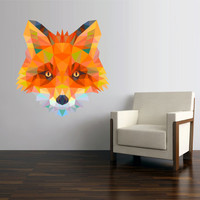 Full Color Wall Vinyl Sticker Decals Decor Art Bedroom Wall Decal Design Mural Fox Triangle (col759)