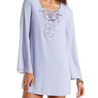 Bell Sleeve Shift Dress by Charlotte Russe