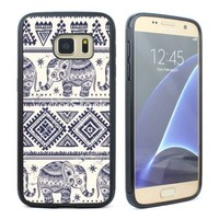 Elephant AztecTrible Rubber Case Cover for Samsung Galaxy S5 S6 S7 Phone Case
