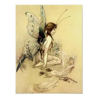 Fairy Illustration Fantasy Poster 12x16