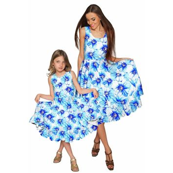 Aurora Vizcaya Fit & Flare Midi Mother and Daughter Dresses