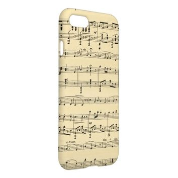 Antique Sheet Music iPhone 7 iPhone 7 Case