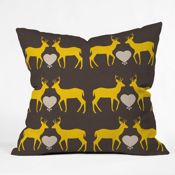 Natt Yellow Love Throw Pillow