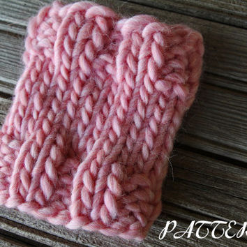 Ribbed Coffee Cup Cozy Knitting Pattern - Thick and Chunky - Instant Download PDF - Cascade Yarn - Magnum - Knit in Round - Knit Gift Idea