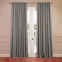 Half Price Drapes BOCH-174402-108-GRDW Grey 108 x 100-Inch Double Wide Grommet Blackout Curtain Single Panel