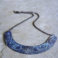 Free People Patina Etched Collar