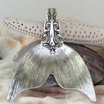 Sterling Spoon Mermaid Tail Pendant