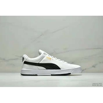 PUMA SUEDE S classic casual wild men and women shoes white+black