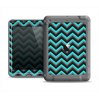 The Turquoise-Black-Gray Chevron Pattern Apple iPad Mini LifeProof Fre Case Skin Set