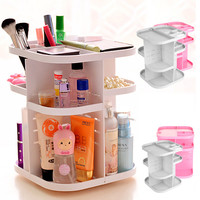 3 Layers ABS Makeups Cosmetic Organizer Case Drawers Jewelry Storage Display Rack Cabinet Display Stand Cosmetic Desk Organizer
